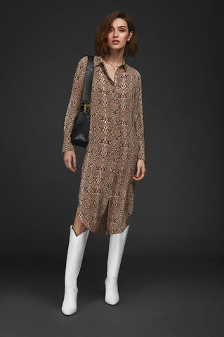 Anine Bing CHELSEA SHIRT DRESS IN PYTHON