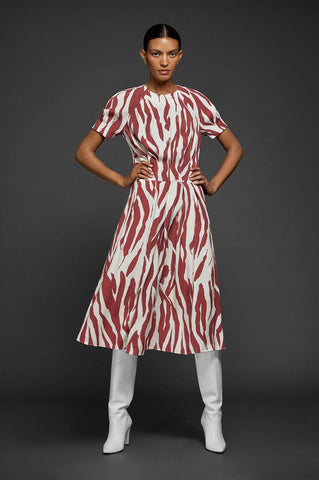 Anine Bing DAHLIA DRESS IN ORANGE ZEBRA