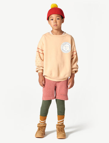 The Animals Observatory Bear Cream Stamp Sweatshirt