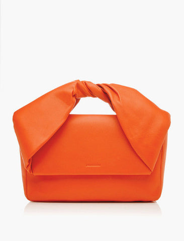 J.W.ANDERSON Twisted Leather Clutch Bag - Orange