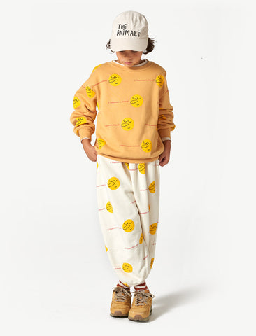The Animals Observatory Bear Yellow Faces Sweatshirt