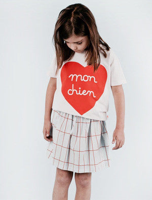 Tiny Cottons Mon Chien Heart Oversized Tee