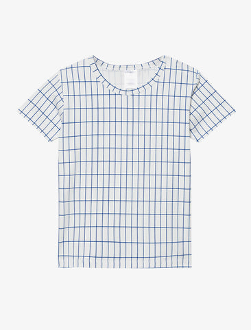 Tiny Cottons Blue Grid T-Shirt