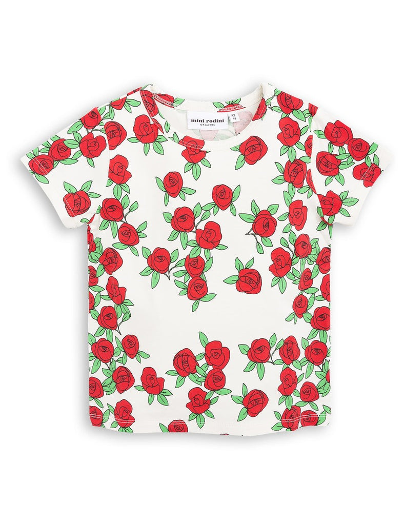 Mini Rodini ROSE SS TEE - White