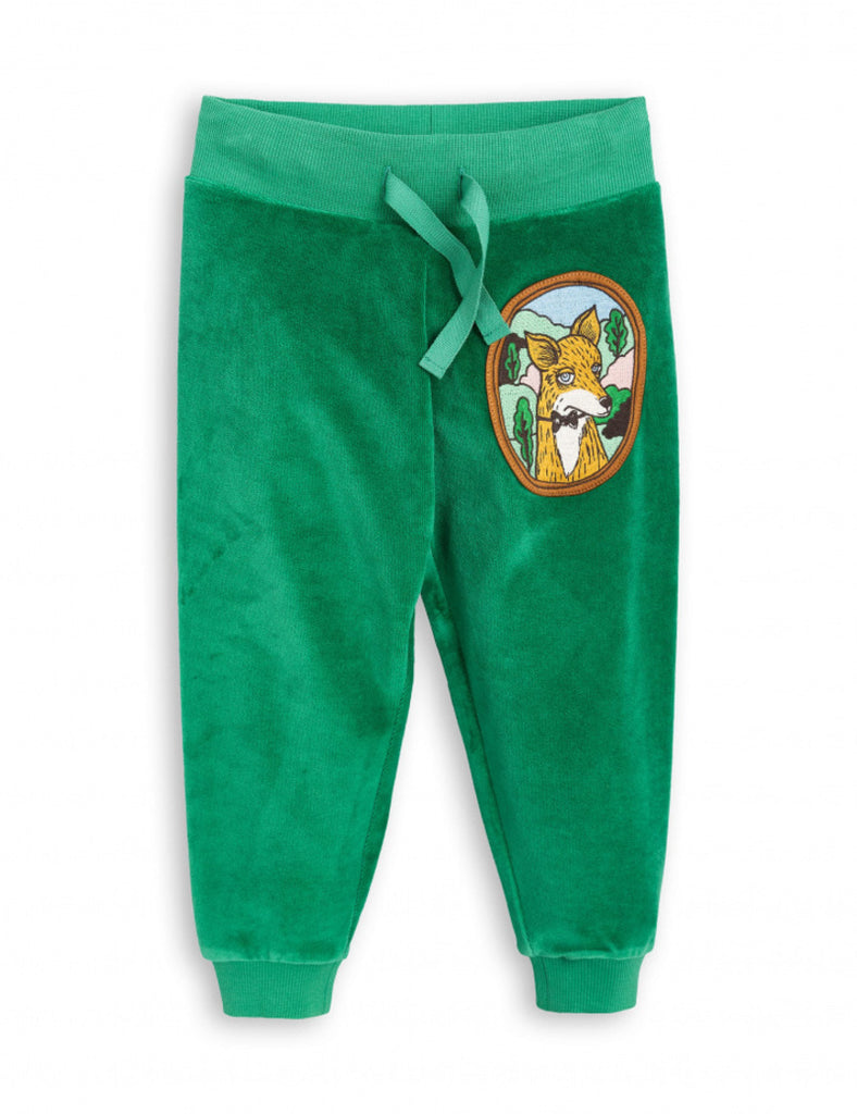 [Mini Rodini] 17FW FOX VELOUR SWEATPANTS /Green