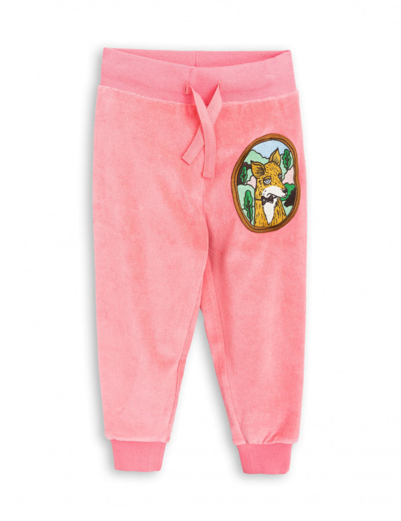 [Mini Rodini] 17FW FOX VELOUR SWEATPANTS / pink