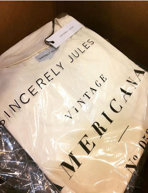 "[Sincerely Jules]100% Cotton ""AMERICANA"" TEE"