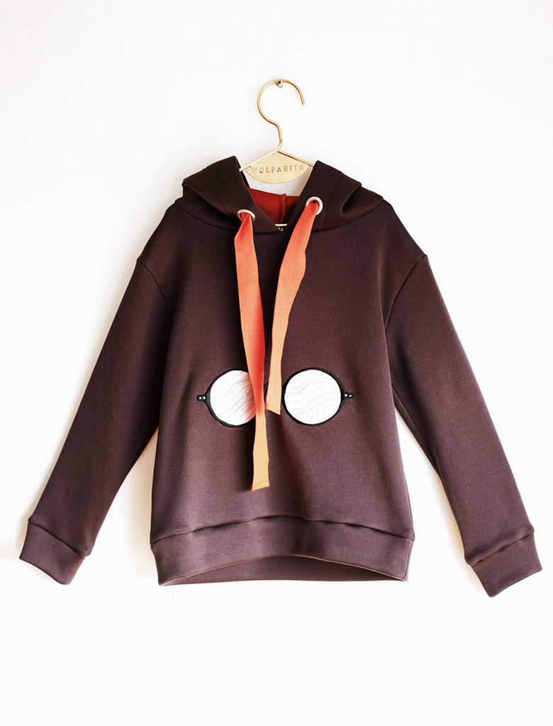 Wolf & Rita David Hooded Sweatshirts - Brown