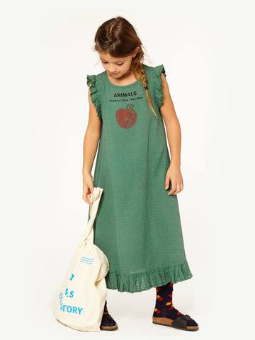 [TAO] SS18 COW KIDS DRESS Portugal GREEN PEACH