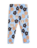 Mini Rodini Flowers  Leggings - Blue