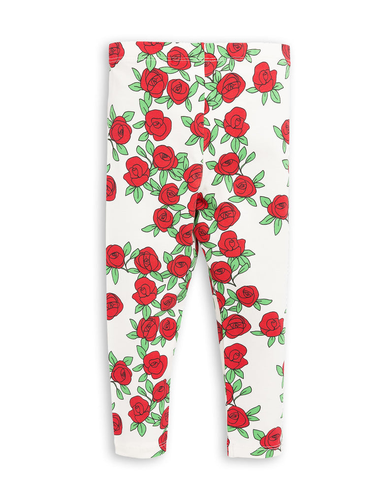 Mini Rodini ROSE LEGGINGS - White
