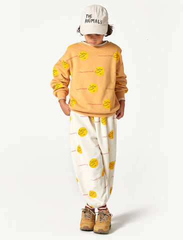 The Animals Observatory Dromedary Yellow Faces Cotton Pants
