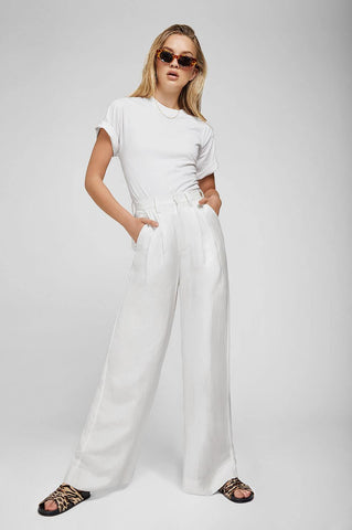 Anine Bing CARLA PANTS IN WHITE