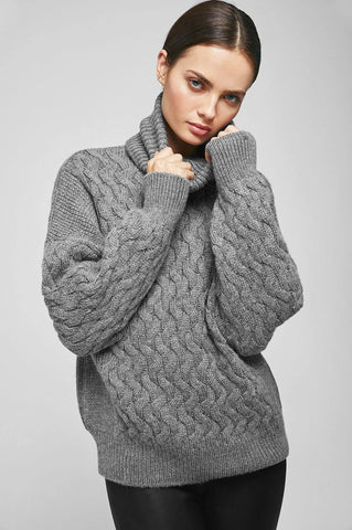 Anine Bing ELSA SWEATER IN GREY