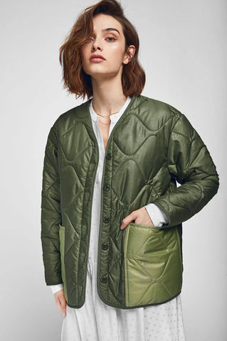 Anine Bing ANDY BOMBER IN MILITARY GREEN