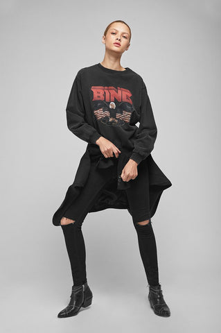 Anine Bing VINTAGE BING SWEATSHIRT IN BLACK