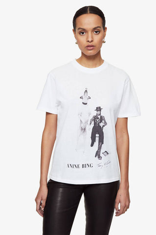 Anine Bing IDA TEE AB X TO DAVID BOWIE IN WHITE