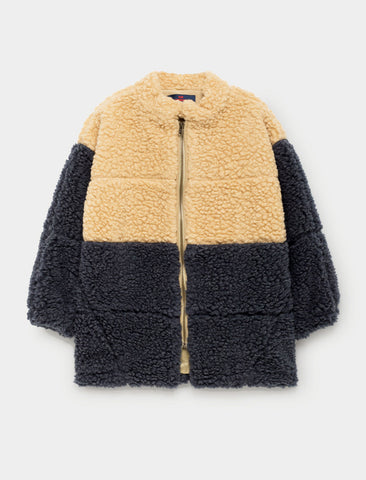 The Animals Observatory Panda Color Block Jacket - Navy