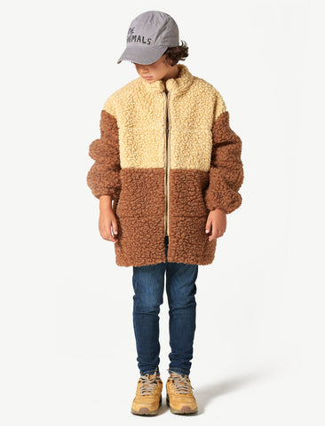 The Animals Observatory Panda Color Block Jacket - Brown