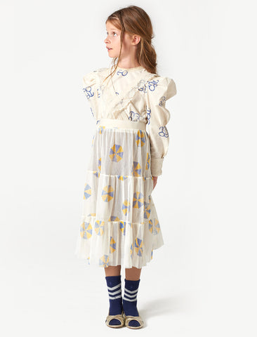 The Animals Observatory Giraffe White Umbrella Skirt