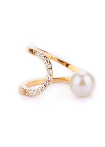 [GOLD PHILOSOPHY] ECLIPSE PEARL RING