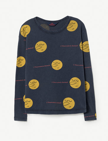 The Animals Observatory Dog Blue Faces Long Sleeve Top