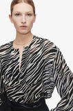 Anine Bing ARROW SHIRT IN CREAM ZEBRA