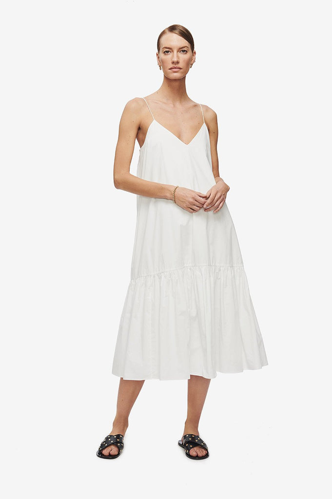 Anine Bing AVERIE DRESS - WHITE