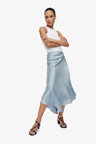 Anine Bing BAILEY SKIRT IN BARELY BLUE