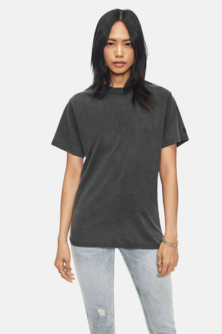 Anine Bing LILI TEE IN WASHED BLACK