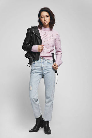 Anine Bing CANDICE SWEATER IN PINK