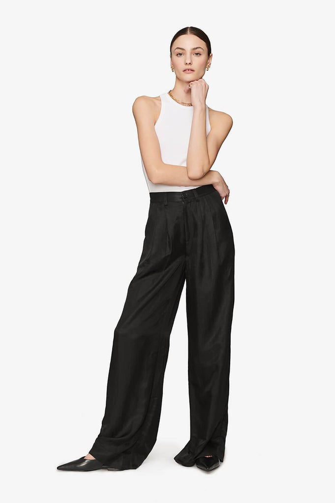 Anine Bing CARLA PANTS IN BLACK