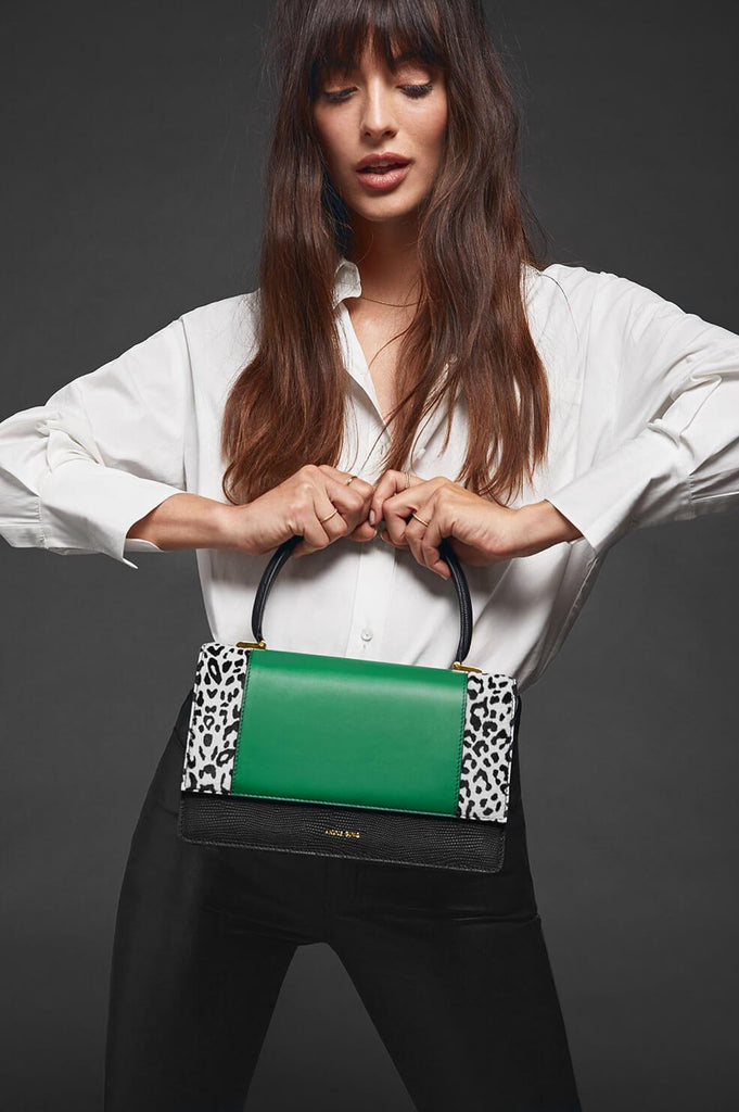 Anine Bing CECILIA BAG IN LEO AND GREEN