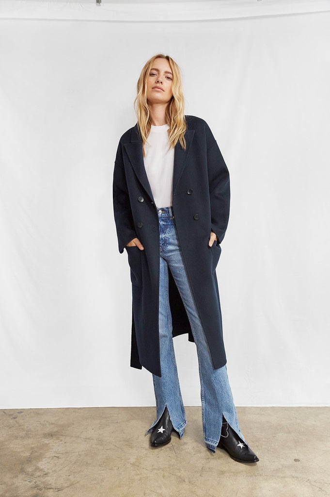 Anine Bing DYLAN COAT IN NAVY