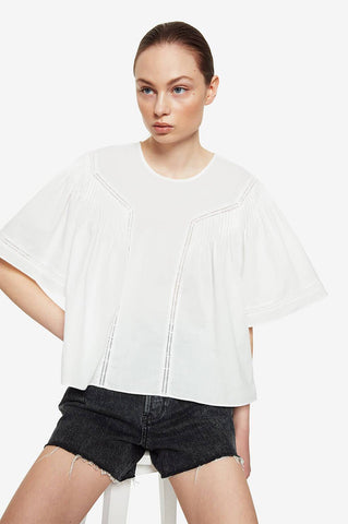 Anine Bing ELOISE TOP IN WHITE