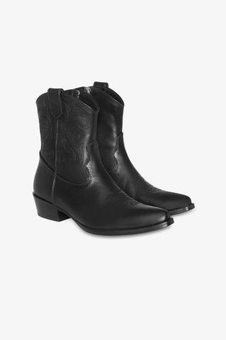 Anine Bing ELTON BOOTS IN SOLID BLACK