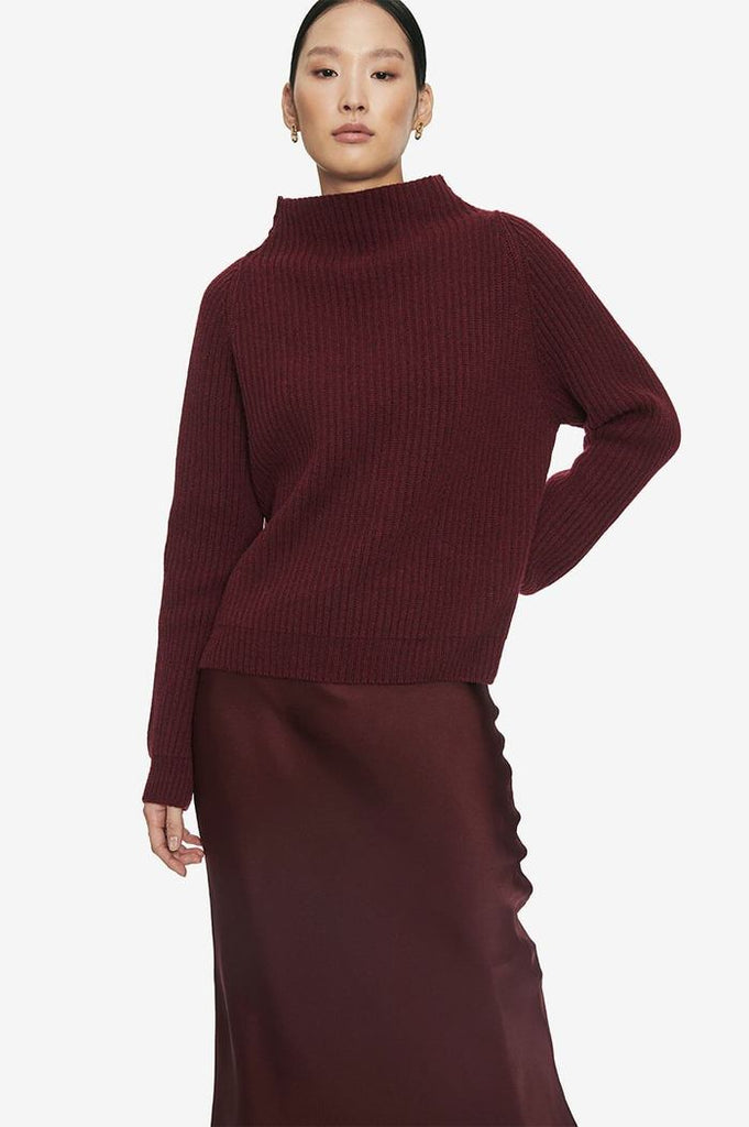 Anine Bing EMELIE SWEATER IN BURGUNDY