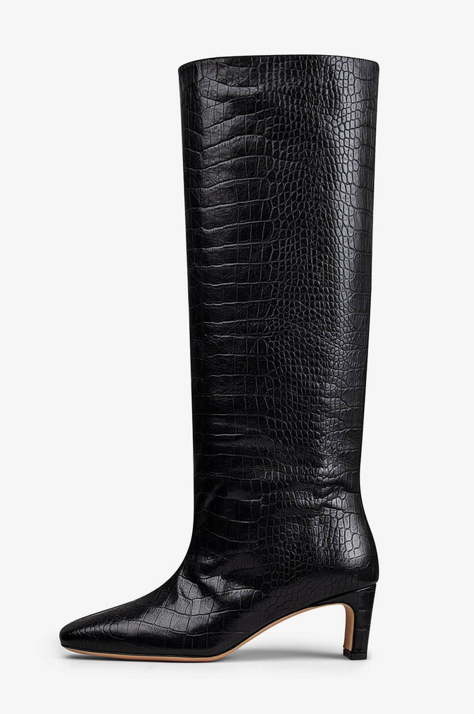 Anine Bing FELICIA BOOTS IN BLACK CROC