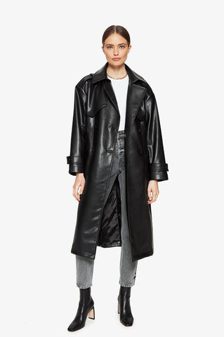 Anine Bing FINLEY TRENCH IN BLACK