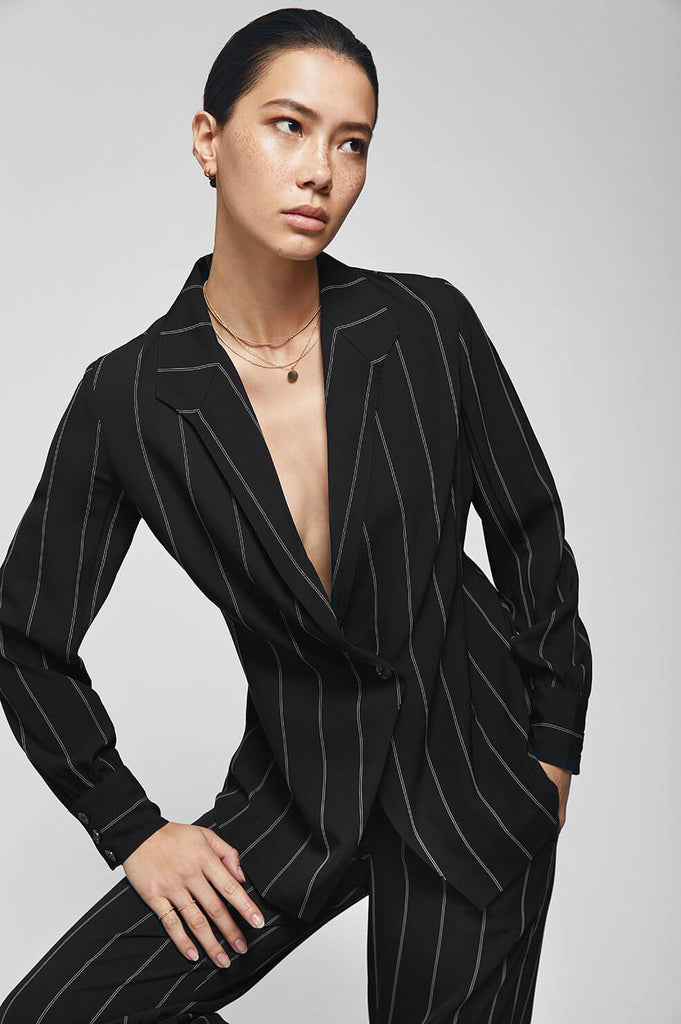 Anine Bing ISABELLA TOP IN PINSTRIPE