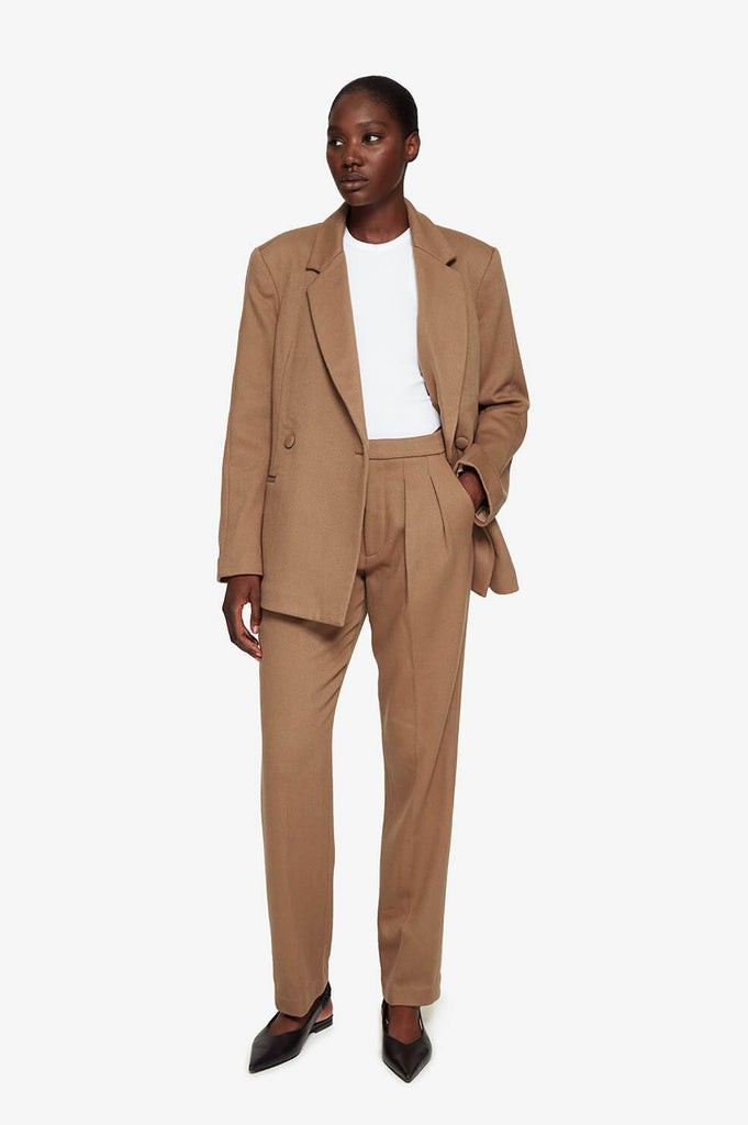Anine Bing JAMES TROUSER IN CAMEL