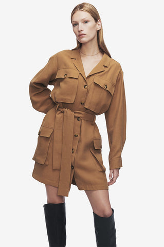 Anine Bing KAIDEN DRESS IN CAMEL