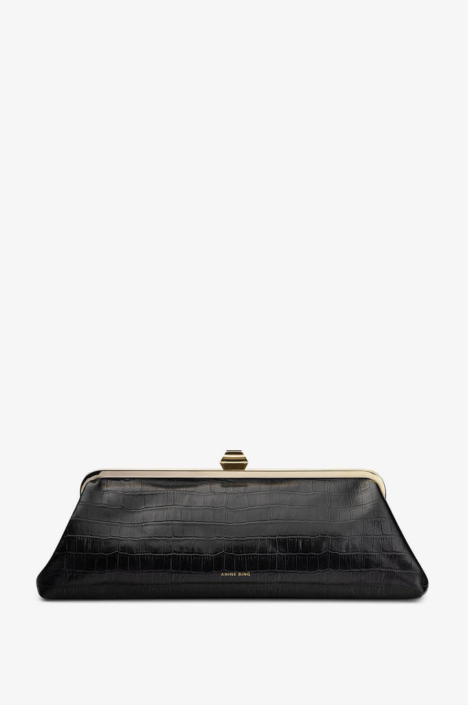 Anine Bing KIARA CLUTCH IN BLACK