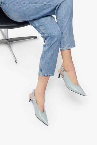 Anine Bing LYLA PUMPS - DUSTY MINT