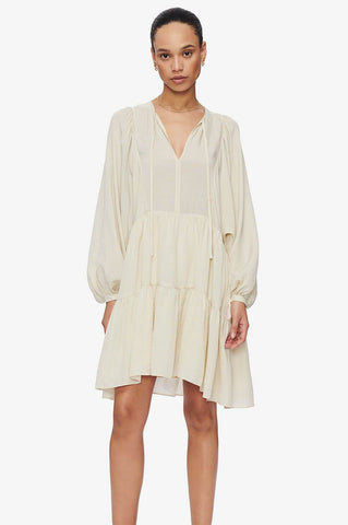 Anine Bing MADISON DRESS - CREAM AND BLACK STRIPE