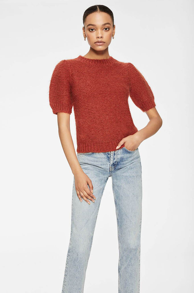 Anine Bing NICOLETTE SWEATER IN RUST