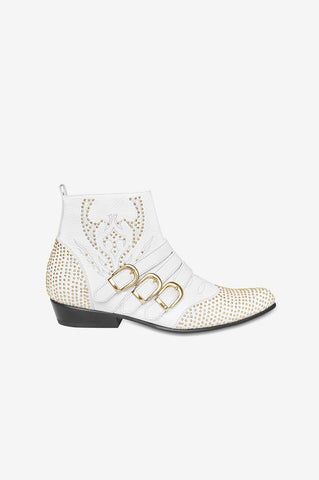 Anine Bing PENNY BOOTS IN WHITE