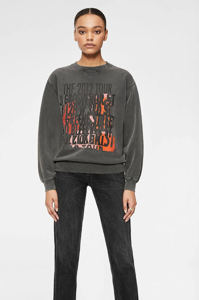 Anine Bing RAMONA STREETS SWEATSHIRT IN BLACK