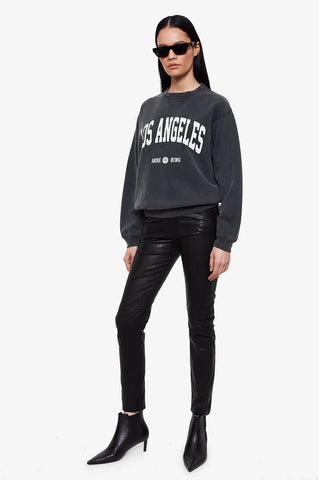 Anine Bing RAMONA SWEATSHIRT LOS ANGELES IN WASHED BLACK