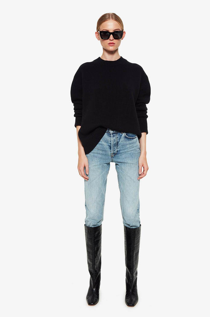 Anine Bing ROSIE CASHMERE KNIT IN BLACK